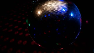 Rotating disco ball with multicolor light effect and smoke