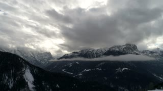 winter alps mountain range
