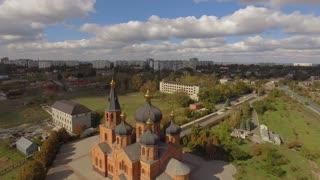 Aerial church Ukraine