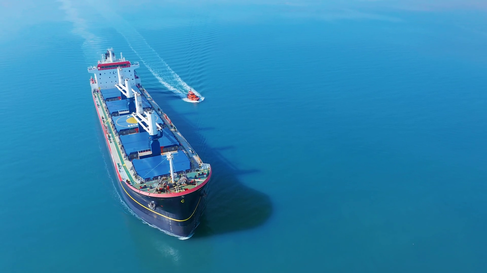 Aerial cinematic 4k with a cargo ship at sea Stock Video Footage -  Storyblocks