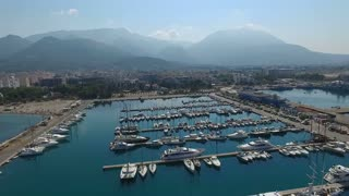 Aerial view of Bar. Montenegro.