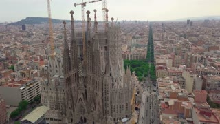 Aerial view. Sagrada Familia, Barcelona