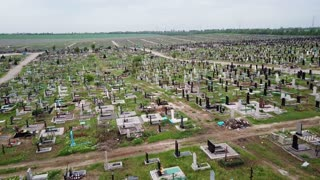 Aerial view. The biggest cemetery in Europe
