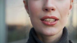 Beauty Shot With Sensual Smiling Girl Posing