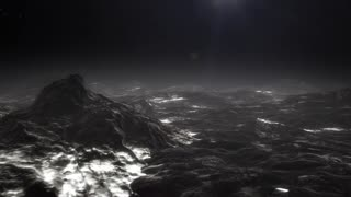 Animation of flight over Pluto's surface.
