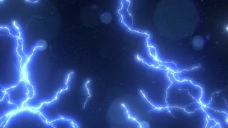 Electric Lighting Energy Animation, Blue Color. Can be used as background or over-layer (blending mode) ex. Add, Overlay, Screen mode.