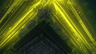 Nanotech World Colorful Visual Effects Flight Animation. Seamless Loop.