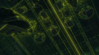 Nanotech World Colorful Visual Effects Flight Animation.