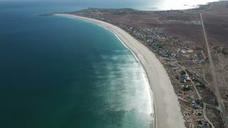 Aerial of Bay Coastline in South Africa
