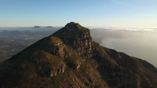 Aerial of Chapmans Peak Revolving Mountain Shot