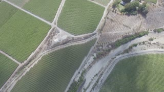 Aerial of Farming Valley in Hex River Valley, South Africa