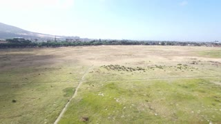 Aerial of Fast Flying Over Field