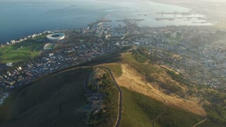Aerial View of Signal Hill, Stadium and Cape Town Harbour