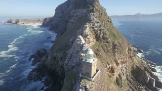 Cape Point Aerial Reveal Shot