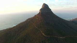 Flying At Lion's Head Mountain in Cape Town Sunset
