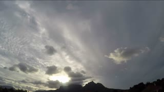 Table Mountain Fast Moving Clouds Timelapse