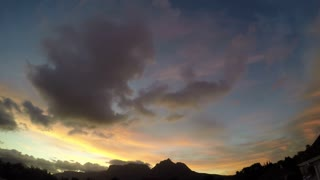 Table Mountain Orange and Purple Sunset Timelapse
