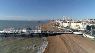 Aerial of Brighton Pier and Beach