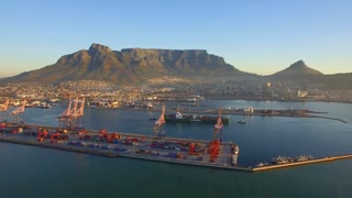 Aerial of Cape Town with Waterfront