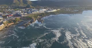 Aerial of Hermanus Town in South Africa