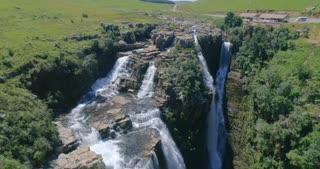 Aerial of Lisbon Falls, Mpumalanga in South Africa
