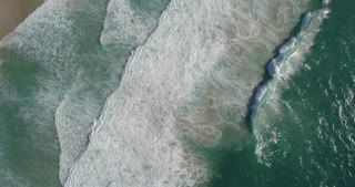 Aerial of Waves on Cape Town Beach From Above