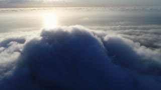 Aerial Shot of Lion's Head Engulfed in Cloud Cape Town