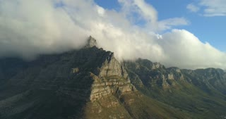 Aerial Shot of Table Mountain Table Cloth Cape Town