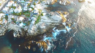 Bakoven Beach at Sunset in Cape Town Aerial