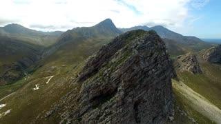Beautiful Mountain Top Aerial Revolving Shot