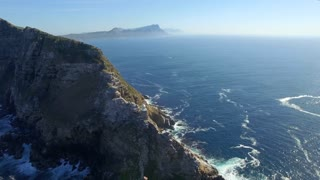 Cape Point Light House Revolving Aerial Shot
