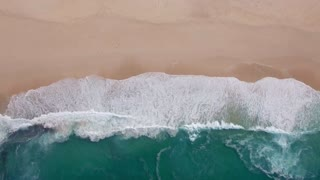 Cape Point Waves From above Aerial View