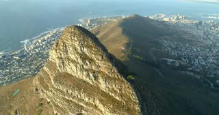 Cape Town Aerial Shot of Lion's Head at Sunset