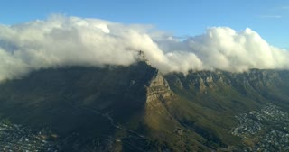 Cape Town Aerial Time Lapse of Table Mountain and Twelve Apostles Moving Clouds