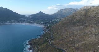 Cape Town Aerial View Towards Hout Bay