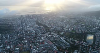 Cape Town City Look up Aerial Shot