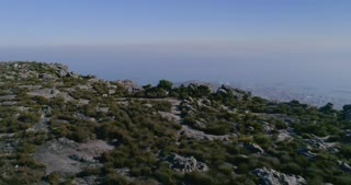 Cape Town Runner on Table Mountain Aerial Shot