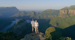 Couple Watching Beautiful View at Blyde River Canyon
