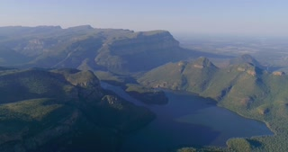 Flying over Blyde River Canyon in South Africa