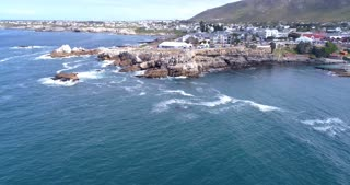 Hermanus Whale Festival Aerial with Southern Right Whales in the Bay