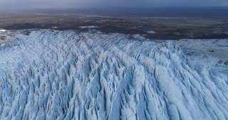 Incredible Glacier Fingers in Iceland Aerial View
