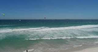 Kitesurfers in Cape Town, South Africa