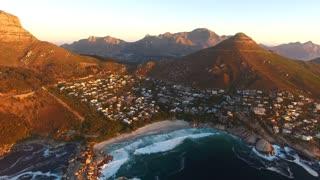 Llandudno Beach in Cape Town Aerial View