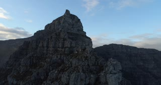 Revolving Aerial Shot Around Table Mountain