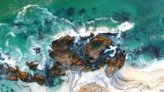 Rock Pools and Beach Aerial View
