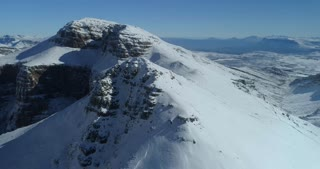 Soaring Over Snow Peaks in South African Mountains