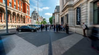 Timelapse Through London Streets Outside Museums