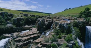 Waterfall in the Panorama Route, South Africa, Lisbon Falls