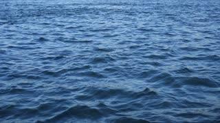 Blue clean water waving, closeup