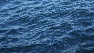Blue clear splashing water